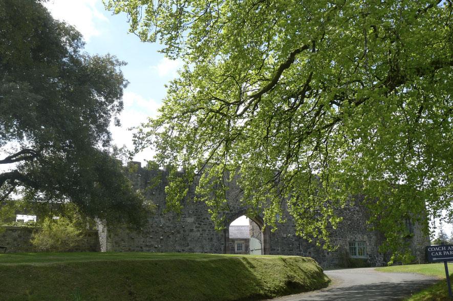 Lissanoure Castle Around the Esatate Castle Walls