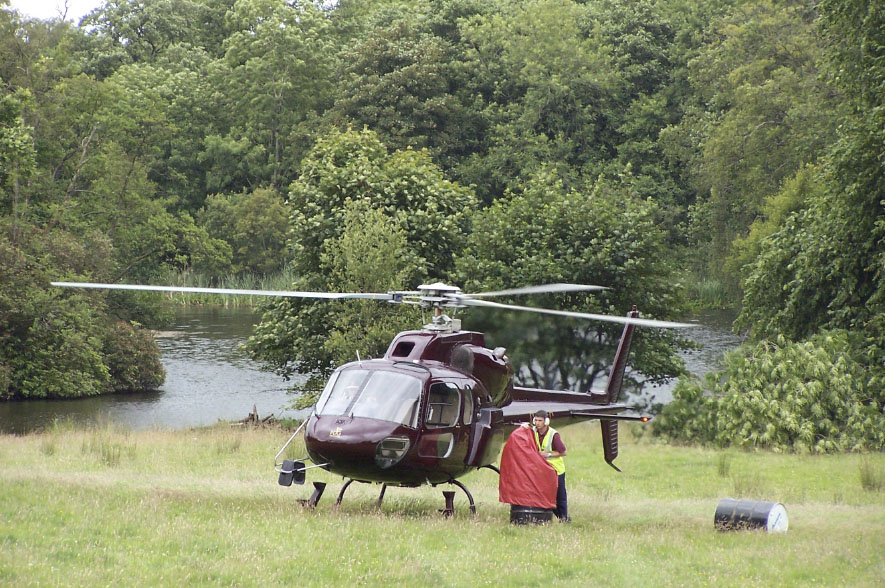 Lissanoure Castle Large Events Helicopter Visit