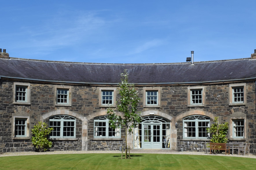 Lissanoure Castle Weddings Courtyard