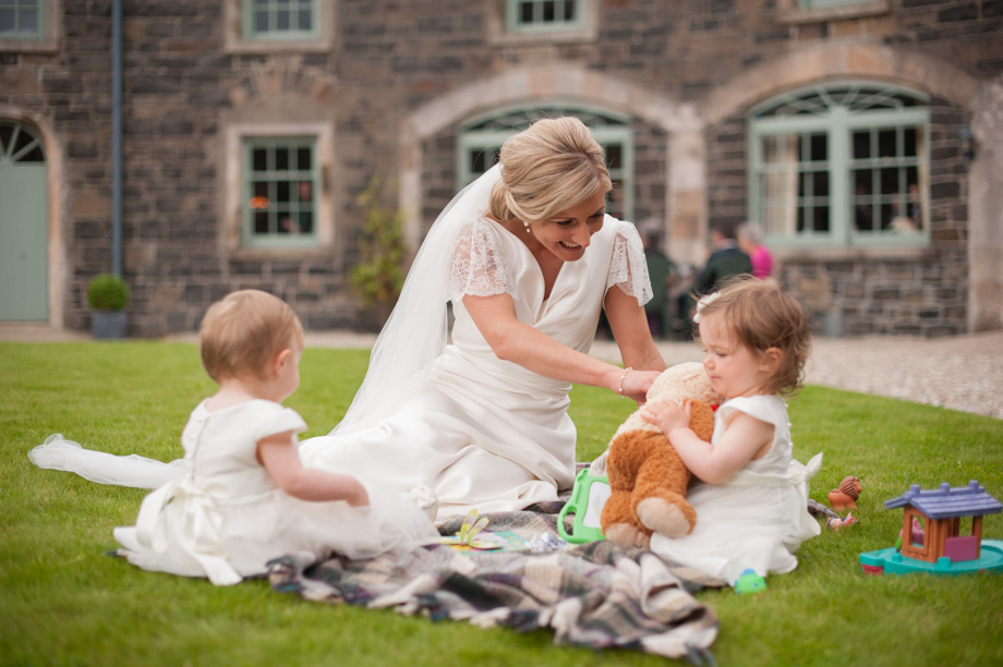 Helen and Philip's wedding party at Lissanoure Castle